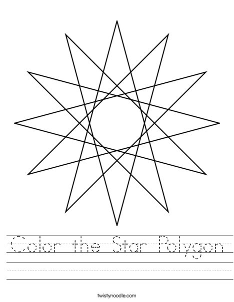 Star Polygon Worksheet
