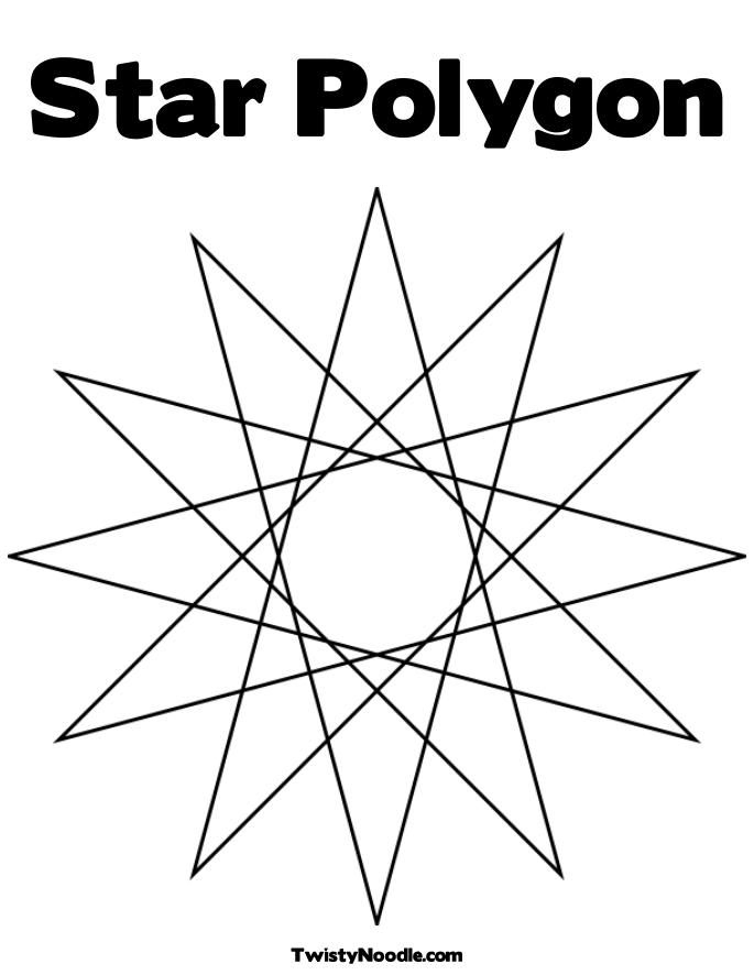 Shapes & Symbols Coloring Book Pages