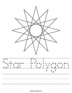 Star Polygon Handwriting Sheet