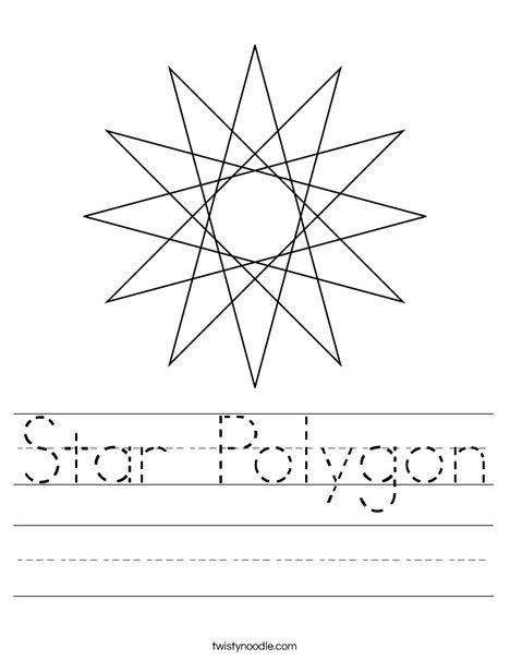 Star Polygon Worksheet