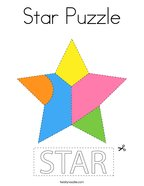 Star Puzzle Coloring Page