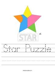 Star Puzzle Handwriting Sheet