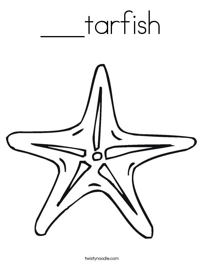 ___tarfish Coloring Page