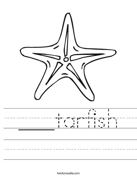 Sea Star Worksheet