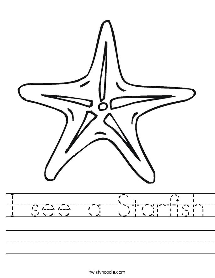 I see a Starfish Worksheet