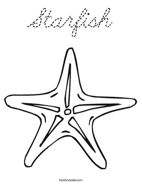 Sea Star Coloring Page