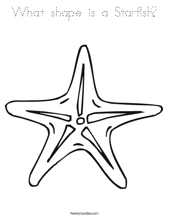 starfish coloring pages for tracing - photo#5