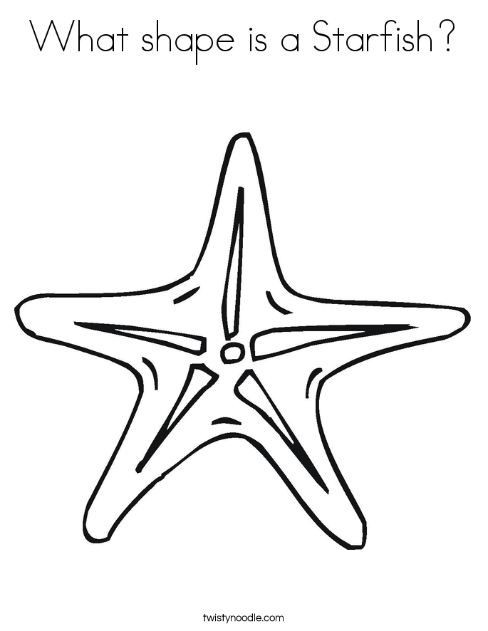 What shape is a Starfish? Coloring Page