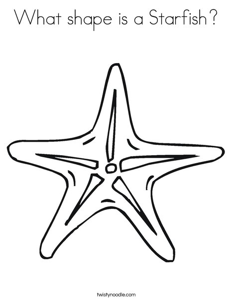 What shape is a Starfish Coloring Page - Twisty Noodle