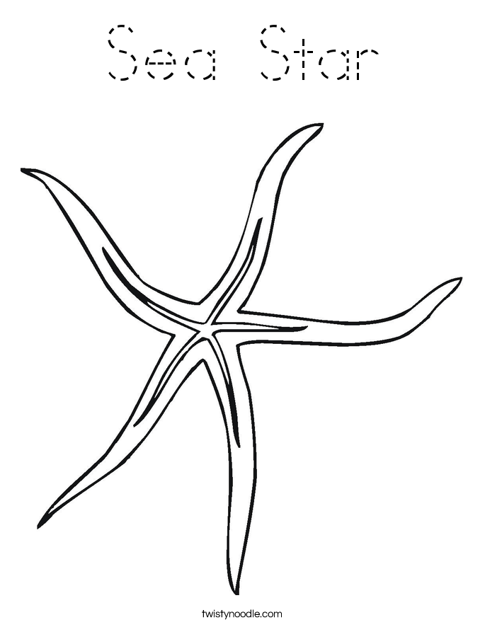 starfish coloring pages for tracing - photo#10