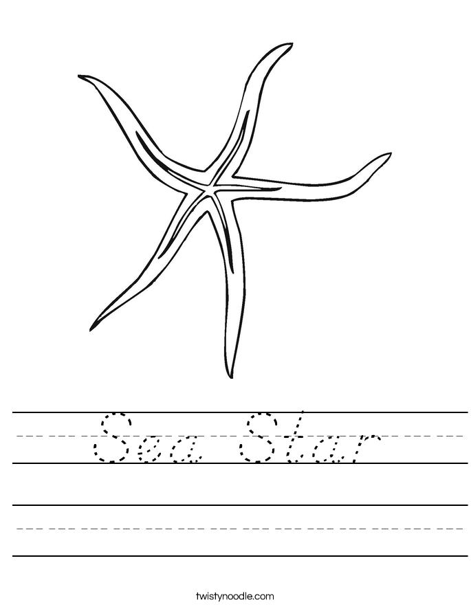 Sea Star Worksheet