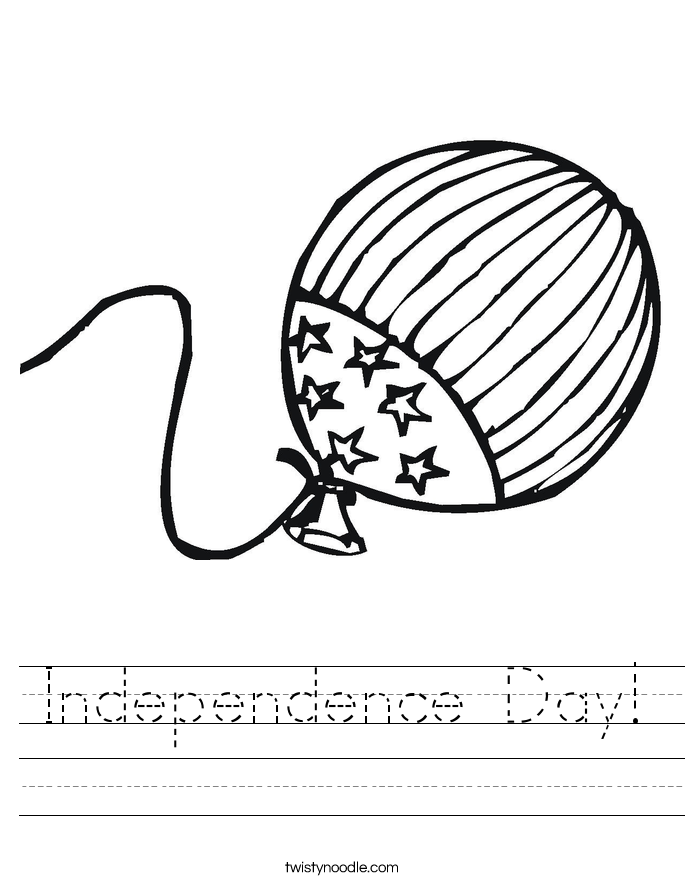 Independence Day! Worksheet