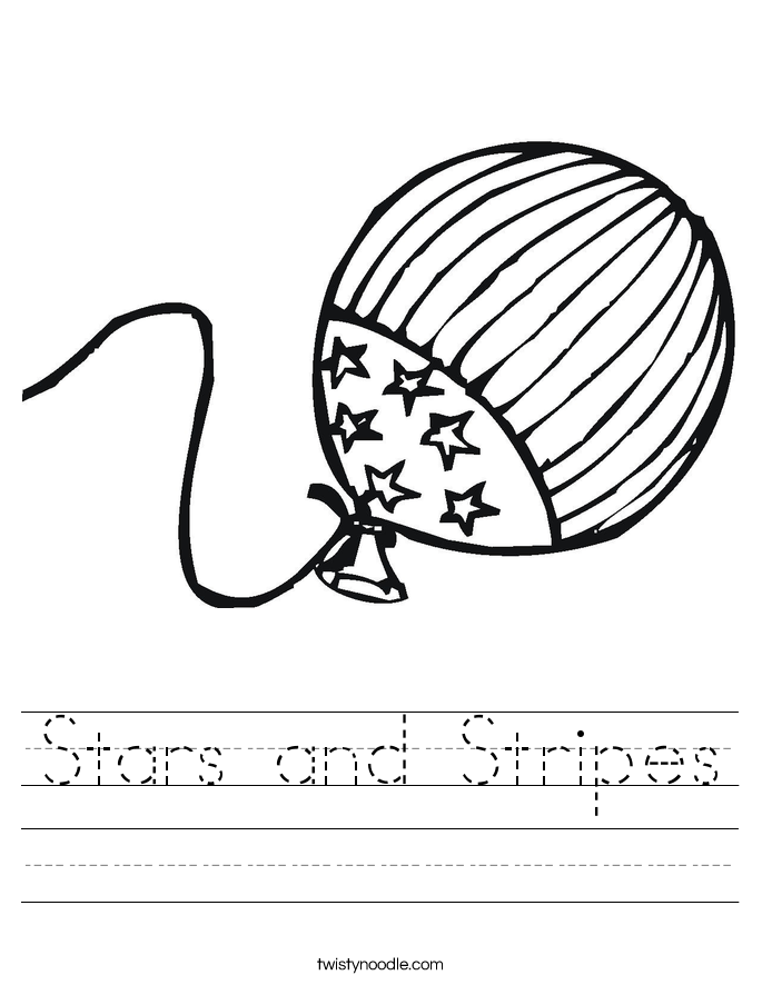 Stars and Stripes Worksheet