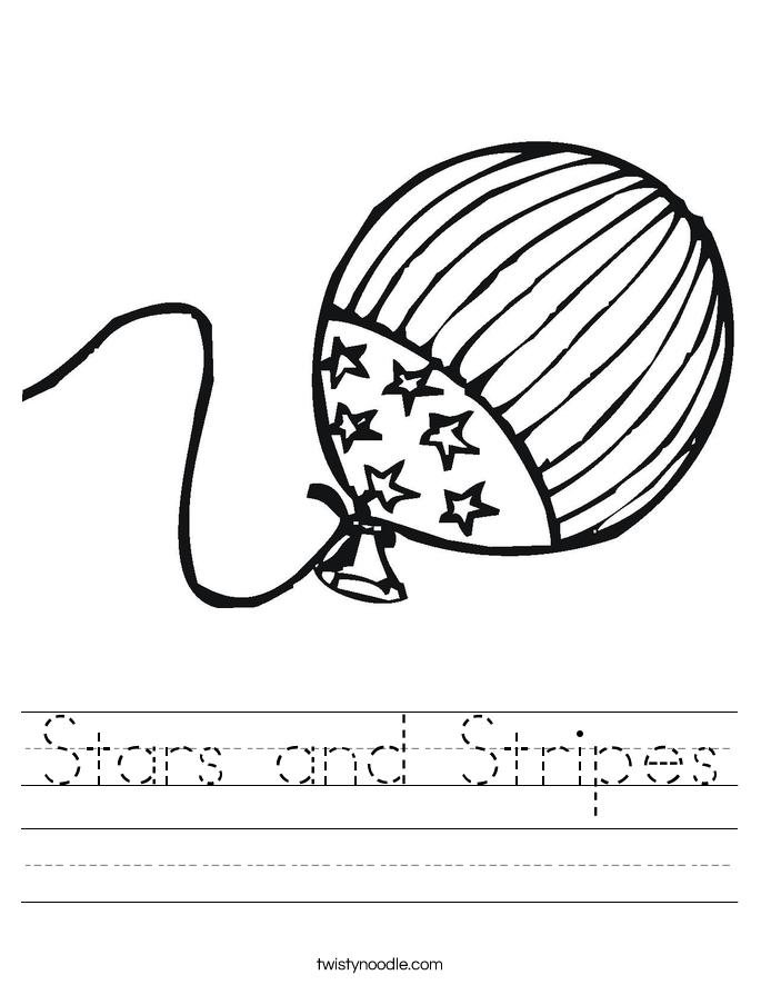 Stars and Stripes Worksheet