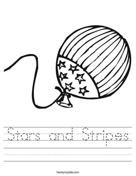 Stars and stripes worksheet twisty noodle for Stars and stripes coloring pages