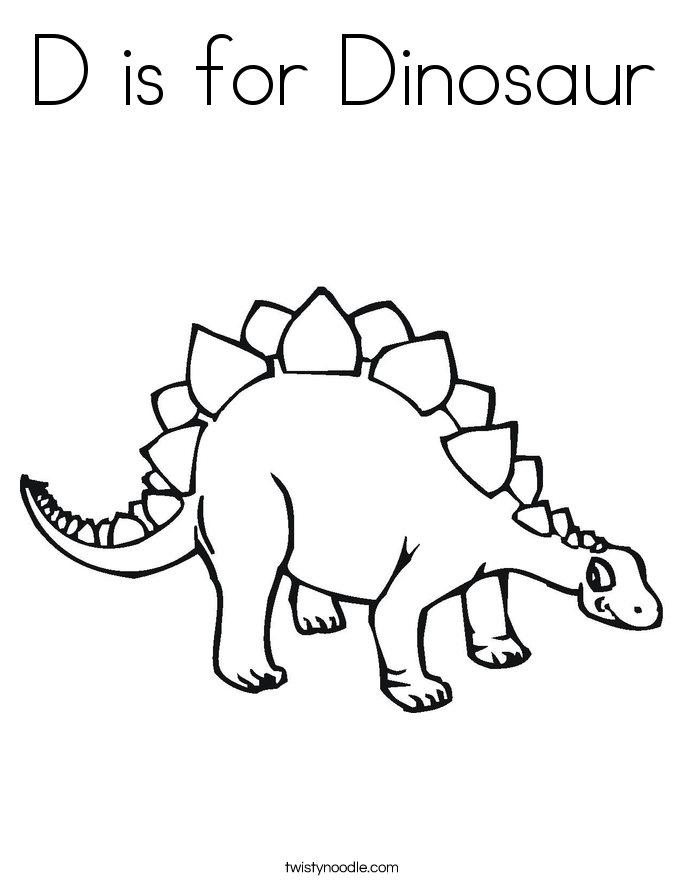 d is for dinosaur coloring pages - photo #8