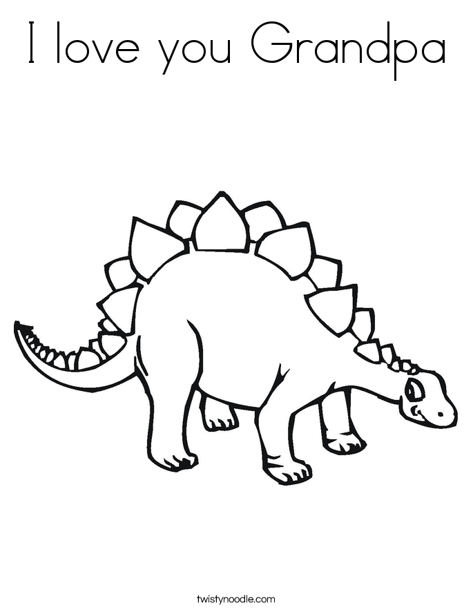 i love you great grandpa coloring pages | I love you Grandpa Coloring Page - Twisty Noodle