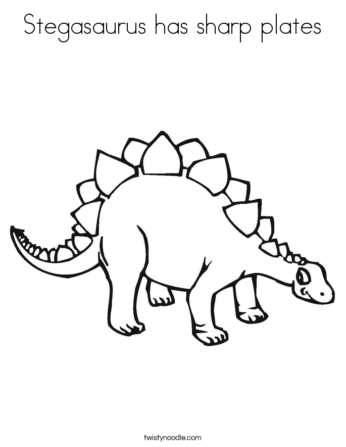 Stegasaurus has sharp plates Coloring Page