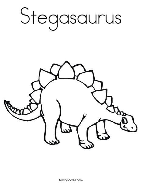 Stegasaurus Coloring Page