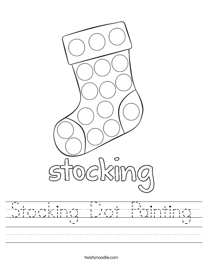 Stocking Dot Painting Worksheet