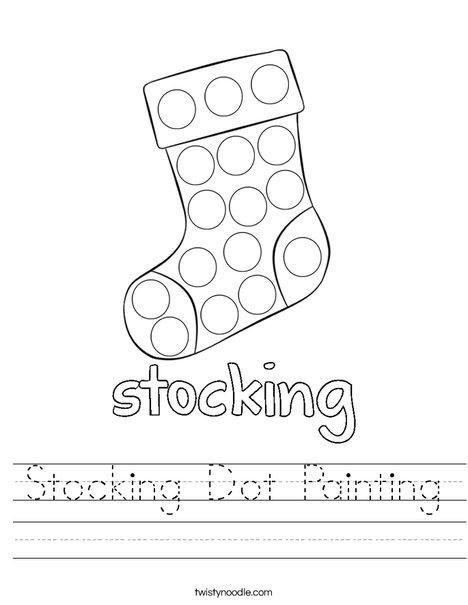 Stocking Dot Painting Worksheet