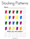 Stocking Patterns Coloring Page