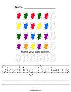 Stocking Patterns Handwriting Sheet