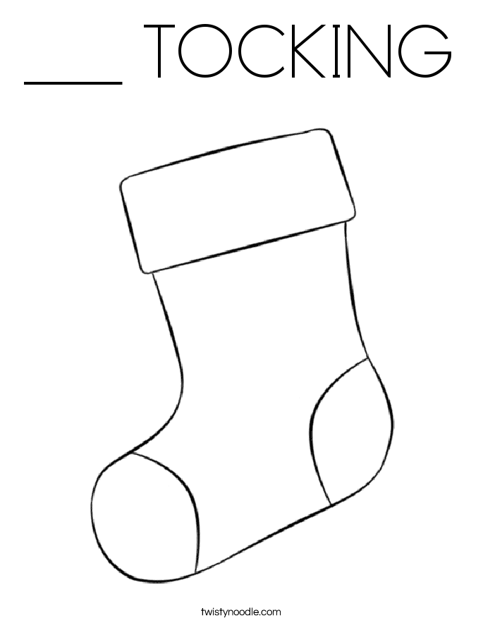 ___ TOCKING Coloring Page
