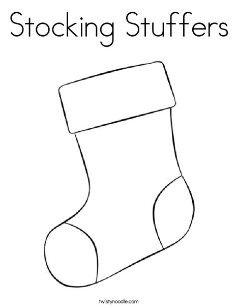 Stocking Stuffers Coloring Page - Twisty Noodle