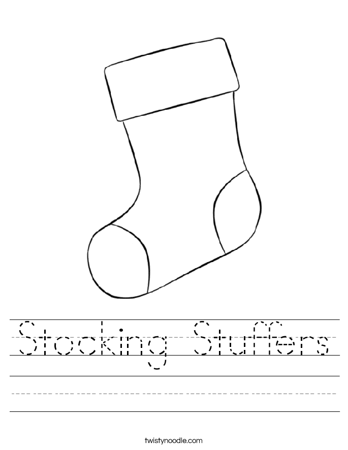 Stocking Stuffers Worksheet
