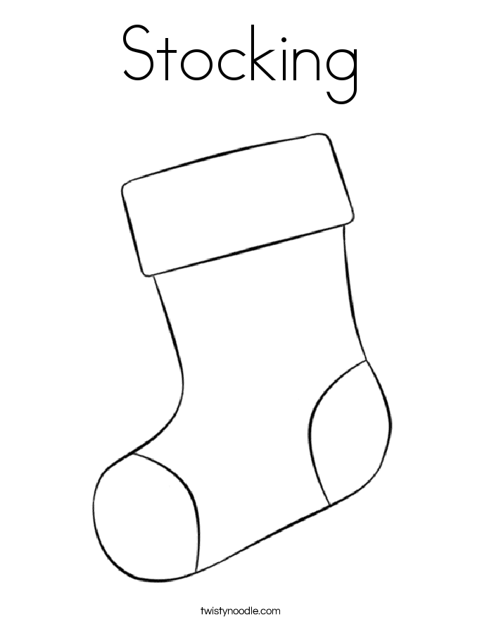 Stocking Coloring Page Twisty Noodle