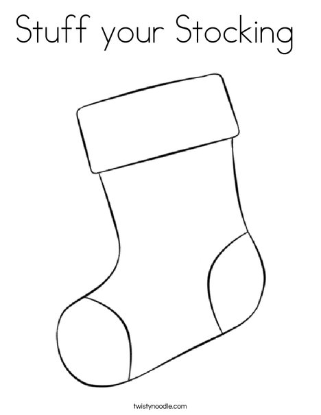 Stuff your Stocking Coloring Page - Twisty Noodle
