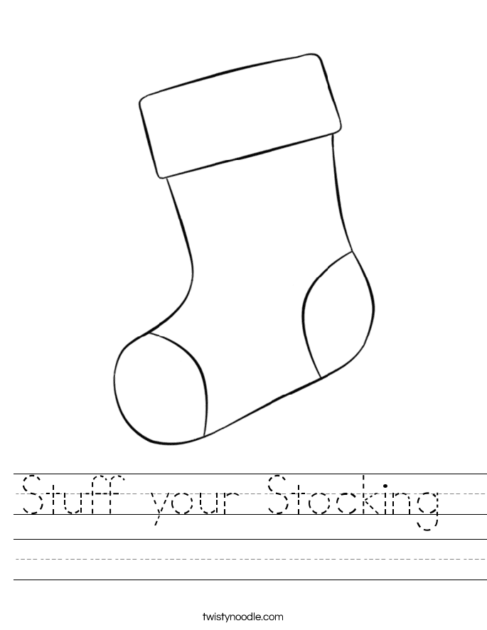 Stuff your Stocking  Worksheet