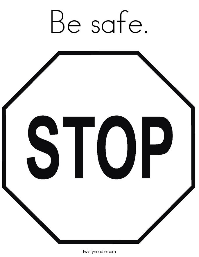 stop sign coloring pages - photo#30