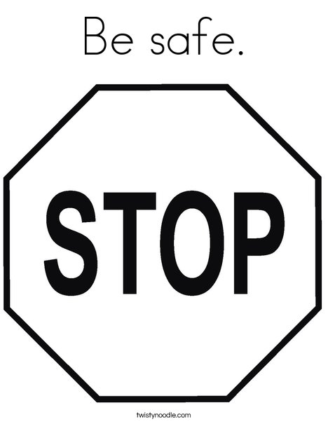 Stop Sign Coloring Page