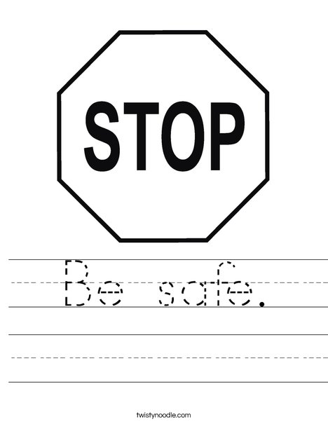 Stop Sign Worksheet