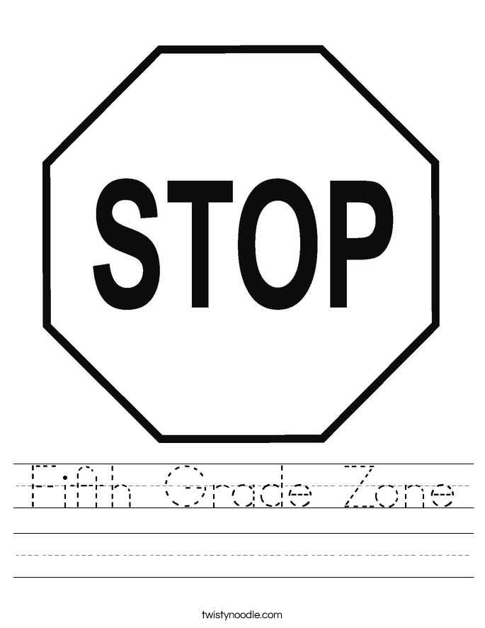 Fifth Grade Zone Worksheet