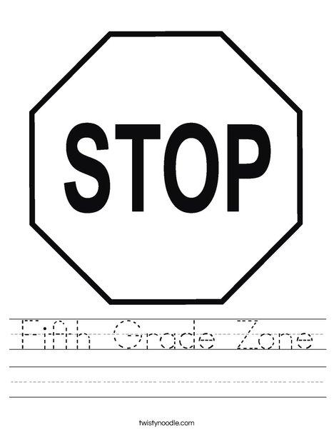 Stop Sign Worksheet