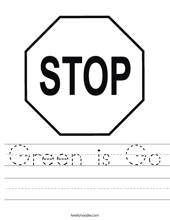 Green is Go Worksheet