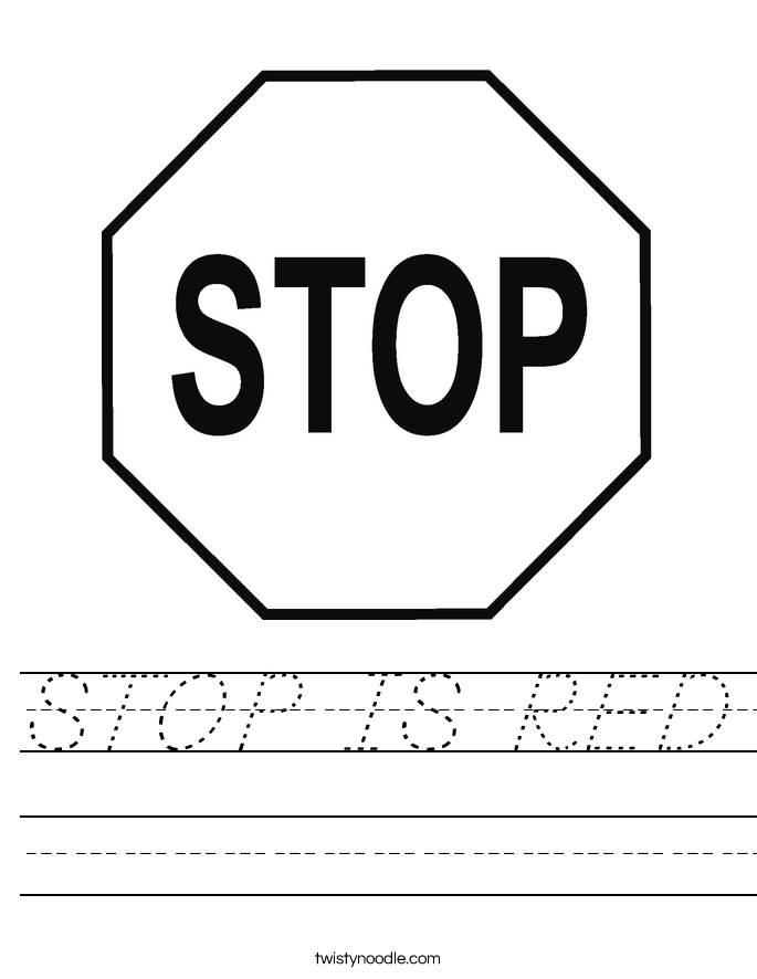 STOP IS RED Worksheet