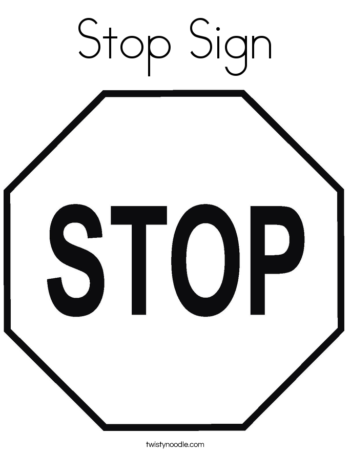 stay out sign coloring pages | Stop Sign Coloring Page - Twisty Noodle