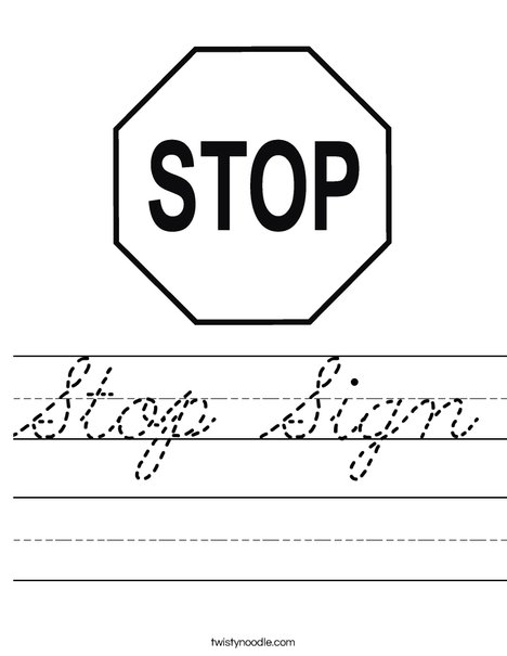 Stop and Go Signs Printable Free | Autism visuals, Autism ... |Stop Sign Writing