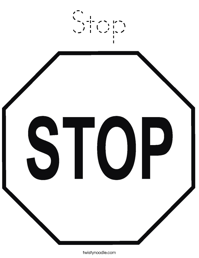 stop sign coloring pages - photo#25