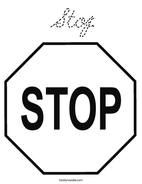 stop sign coloring pages - photo#26