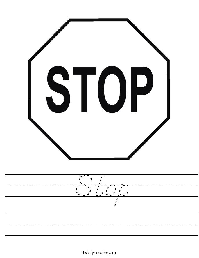 Stop Worksheet