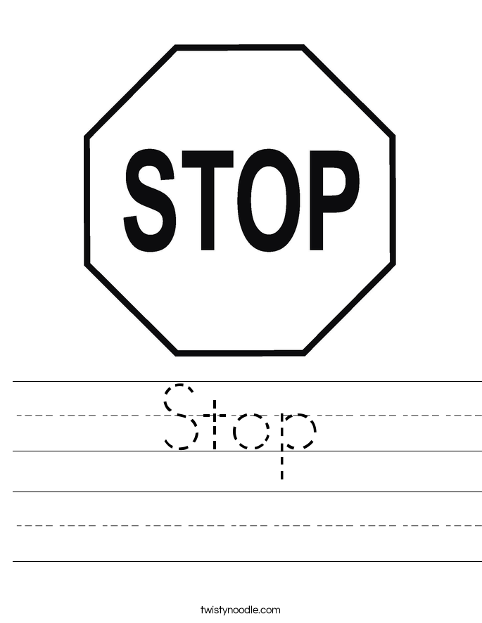 Stop Worksheet