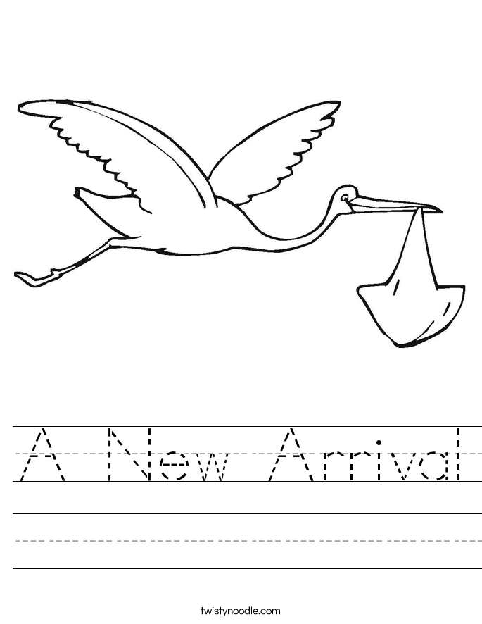 A New Arrival Worksheet