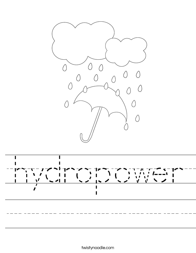 hydropower Worksheet