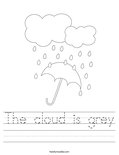 The cloud is grey Worksheet