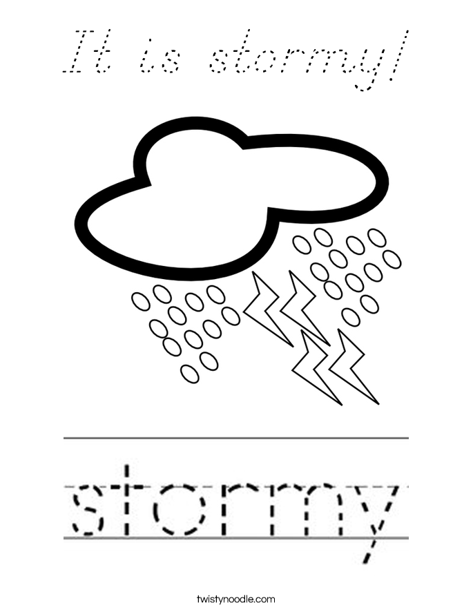 It is stormy! Coloring Page